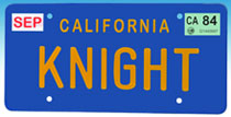 Image: Knight Rider: Knight License Plate Replica  - Diamond Select