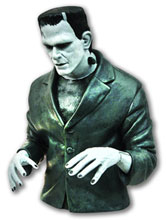 Image: Universal Monsters Bust Bank: B&W Frankenstein  -