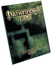 Image: Gamemastery Flip Mat: Thornkeep Dungeons 2-Pack  - Paizo Publishing Llc