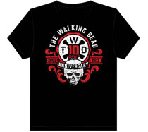 Image: Walking Dead 10th Anniversary T-Shirt Black  (L)