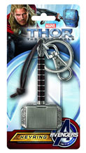 Image: Thor: The Dark World Hammer Pewter Keyring  -