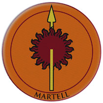 Image: Game of Thrones Embroidered Patch: Martell  - Dark Horse Comics