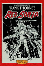 Image: Frank Thorne's Red Sonja Art Edition Deluxe Vol. 01 HC  (signed) - Dynamite