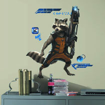 Image: Guardians of the Galaxy Raccoon Giant Wall Decal  -
