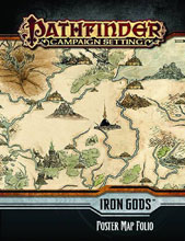 Image: Pathfinder Campaign Setting: Iron Gods Poster Map Folio  -
