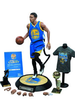 Image: Stephen Curry Real Masterpiece Action Figure  (1/6-scale) -