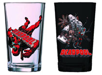Image: Deadpool Previews Exclusive 2 Glass Set  -