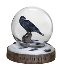 Image: Game of Thrones Limited Edition Snow Globe: 3-Eyed Raven  - Dark Horse Comics