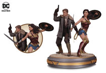 Image: Wonder Woman Movie Statue: Wonder Woman & Steve Trevor  - DC Comics