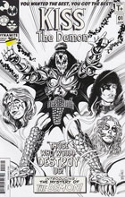 Image: Kiss: The Demon #1 (Mandrake b&w incentive cover - 01061) (15-copy)  [2016] - Dynamite