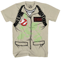 Image: Ghostbusters T-Shirt: Venkman Costume Glow-in-the-Dark [Sand]  (XL) - Mad Engine
