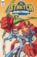 Image: Stretch Armstrong & Flex Fighters #1 (cover B - Koutsis) - IDW Publishing