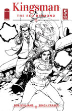 Image: Kingsman: Red Diamond #5 (cover B - B&W Yu) - Image Comics