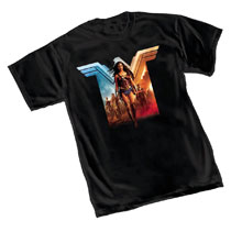 Image: Wonder Woman T-Shirt: Red & Blue  (M) - Graphitti Designs