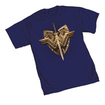 Image: Wonder Woman T-Shirt: Crest  (L) - Graphitti Designs