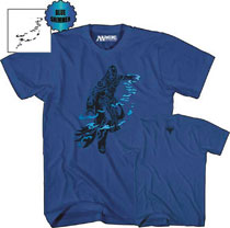 Image: Magic the Gathering T-Shirt: Jace Beleren [Blue]  (XL) - Mad Engine