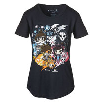 Image: Tokidoki x Overwatch Women's T-Shirt [Black]  (L) - Blizzard Entertainment, Inc