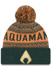 Image: DC Comics Wintery Pom Knit Beanie: Aquaman  - New Era Cap Co
