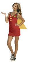 Image: DC Tank Dress: Robin Cape  (L) - Rubies Costumes Company Inc