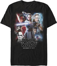 Image: Star Wars T-Shirt: E8 - Release Date Poster [Black]  (XL) - Fifth Sun