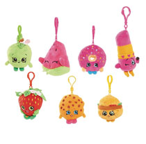 Image: Shopkins Bean 4-inch Plush Clip 12-Piece Assortment  - Zoofy International