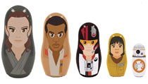 Image: Star Wars: E8 Plastic Nesting Dolls Set - Resistance  - Ppw Toys