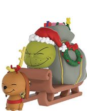 Image: Dorbz Ridez Grinch That Stole Xmas: Grinch & Max on Sled  - Funko