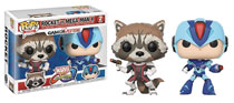 Image: Pop! Marvel vs. Capcom Vinyl Figure: Rocket vs. Megaman  (2-Pack) - Funko