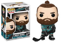 Image: Pop! NHL Series 2 Vinyl Figure: Brent Burns  (Home Jersey) - Funko