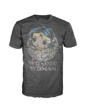 Image: Pop! Tees DC T-Shirt: Wonder Woman  (M) - Funko