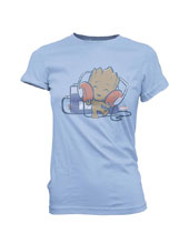 Image: Super Cute Tees - Marvel T-Shirt: Groot Tape Deck  (S) - Funko