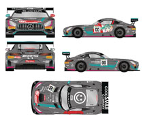 Image: Hatsune Miku: GT Project 1/32 Mini Car AMG  (2017 Finals version) - Good Smile Racing