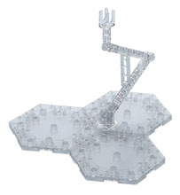 Image: Action Base 1/100 Model Base-4 Clear Box of 10  - Bandai Hobby