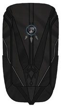 Image: Black Panther Movie Costume Inspired Laptop Backpack  - Bioworld Merchandising