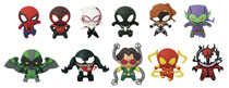 Image: Marvel Classic Spider-Man Cut Figural Keyring 24-Piece Blind Mystery Box Display  - Monogram Products