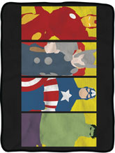 Image: Avengers Fleece Blanket: Character  - Surreal Entertainment