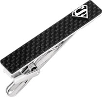 Image: DC Tie Clip: Superman  (Carbon Fiber) - Cufflinks Inc.