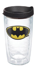 Image: DC Comics Tumbler: Batman  (w/Black Lid) (16-ounce) - Tervis Tumbler Co.