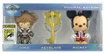 Image: Kingdom Hearts Figural Keyring 3-Pack  (SDCC 2017 exclusive) - Monogram Products