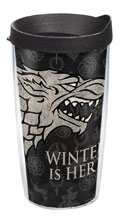 Image: Game of Thrones Tumbler: Winter Is Here  (w/Black Lid) (16-ounce) - Tervis Tumbler Co.