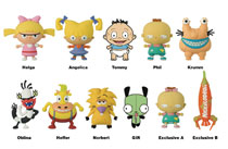 Image: Nickelodeon Classics Series 2 Cut Figural Keyring 24-Piece Blind Mystery Box Display  - Monogram Products