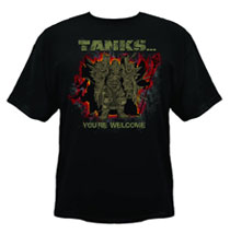 Image: World of Warcraft: Tanks Youre Welcome Black T-Shirt  (XL) -
