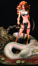 Image: Red Sonja: Michael Turner Diamond Eye Statue  - D. E./Dynamite Entertainment
