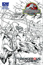 Image: Jurassic Park: Dangerous Games #4 (10-copy incentive cover) - IDW Publishing