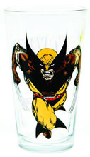 Image: Toon Tumblers Clear Pint Glass: Wolverine  -