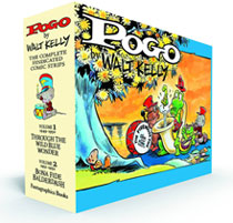 Image: Pogo: The Complete Syndicated Comic Strips Vol. 1 & 2 Box Set HC  - Fantagraphics Books