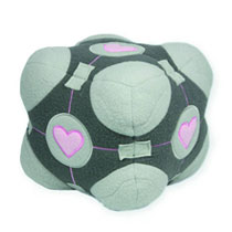 Image: Portal: Companion Cube Plush  - Video Games Toys