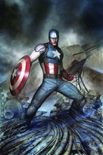 Image: Captain America: Living Legend #4 (variant cover - Starlin Legend) - Marvel Comics