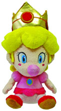 Image: Super Mario Bros. Plush: Baby Peach  (5-inch) -