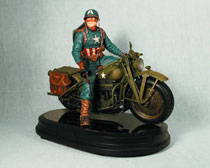 Image: Captain America & Motorcycle Statue  -